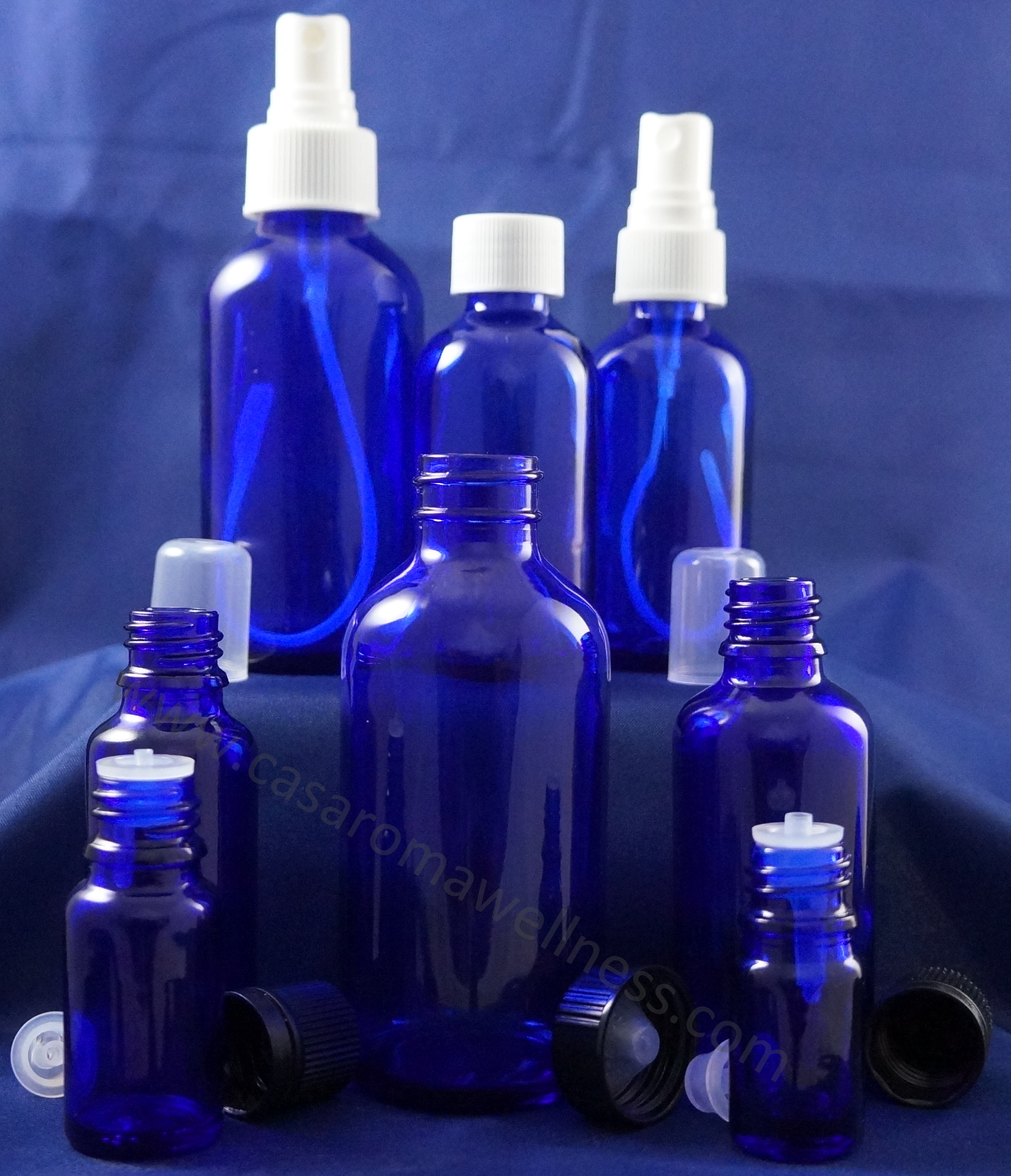 Blue Cobalt Glass Bottles